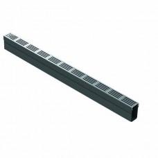 Aco slimline met designrooster aluminium 1m